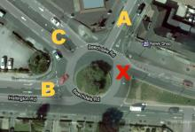 Chalfont Drive Test Centre - Beechadale Road/Robins Wood Road Roundabout