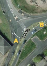 Wilford Lane, West Bridgford - Mini-roundabout