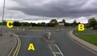 Wilford Lane, Nottingham - North View on Mini-roundabout
