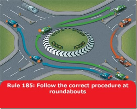 The picture in the Highway Code - roundabouts