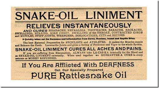 Snake Oil label
